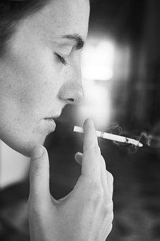 Cigarette, Dependency, Woman, Portrait, Photography
