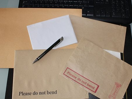 Envelope, Pen, Business, Stationery, Mail, Post, Office