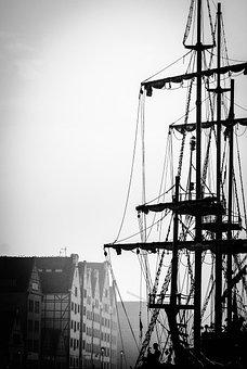 The Mast, Sailing Ship, Sea, Sailboats, Water, Ship