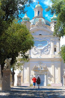 Church, Temple, Stroll, Italy, Tourism, Couple