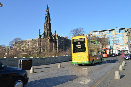 Edinburgh, Dry Extract, Top, City, Bus, Building