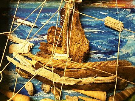 Drift Wood, Collage, Wood, Victorian, Decoration