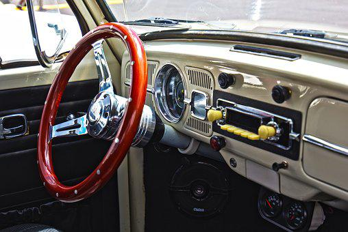 Car, Vw, Bug, Volkswagon, Steering Wheel, Dash, Auto