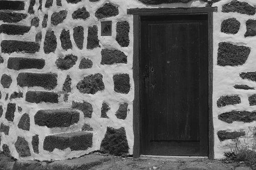 Door, Stairs, Castle, White, Marinaro, Abandonment