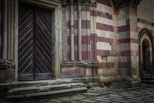 Abbey, Gate, Door, Historical, Religion, Architecture