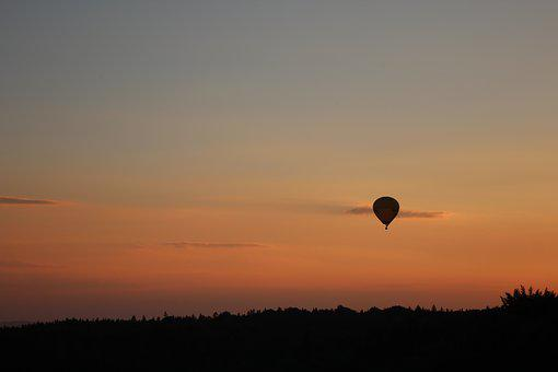 Sunset, Balloon, Hot Air Balloon, Hot Air Balloon Ride