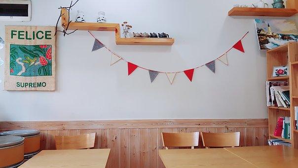 Cafe, Ornament, Props, Cafe Mocha, Bookcase