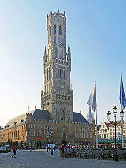 Bruges, Belfry, Landmark, Centrum, World Heritage Site