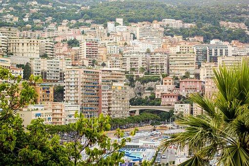 Monaco, City, Bay, Yachts, Building, Quay, Landscape