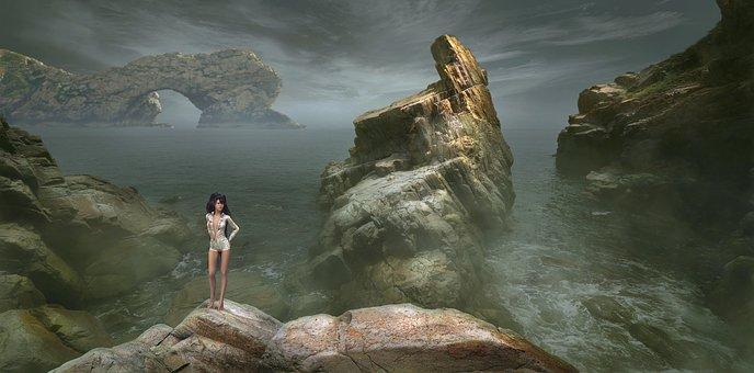 Fantasy, Landscape, Mood, Mystical, Light, Atmosphere