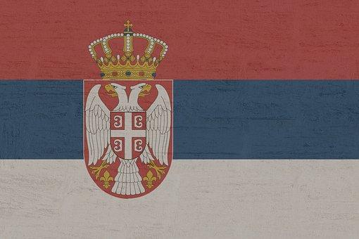 Serbia, Flag, Symbol, Land, Outline