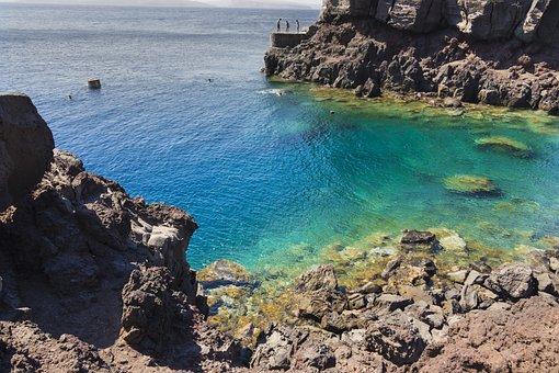 Santorini, Greece, Landscape, Tourism, Heat, The Coast
