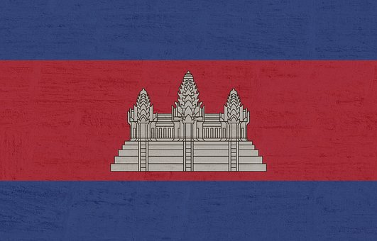 Cambodia, Flag, International