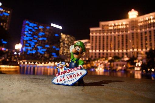 Las Vegas, Welcome To Las Vegas, Nevada, Hotel, Lights