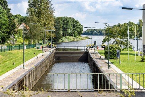 Lock, Shipping, Teltow, The Teltow Canal, Kleinmachnow