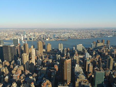 New York, Manhattan, Usa, Ny, Skyscraper, Nyc, Skyline
