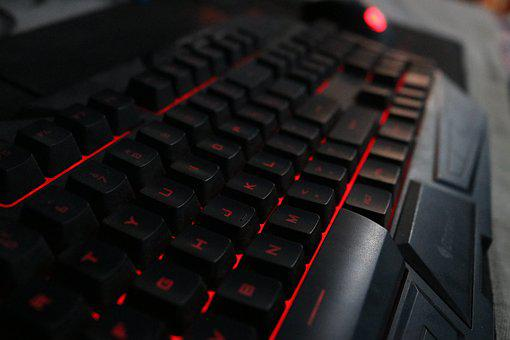 Keyboard, Red, Cooler Master, Octane, Backlit