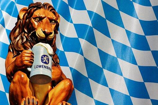 Lion, Oktoberfest, Munich, Beer Tent, Brewery, Figure