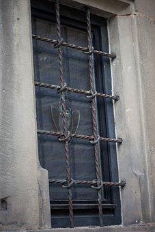 Window, Grate, Castle, Old, Grid, Barred Window