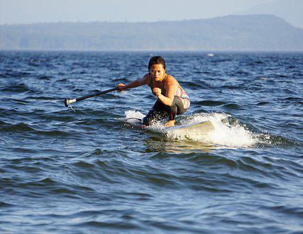 Surfer, Paddleboard, Water, Surfing, Paddle, Sport