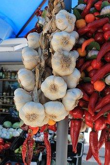 Onion, Paprika, Vegetables, Vegetable Stand
