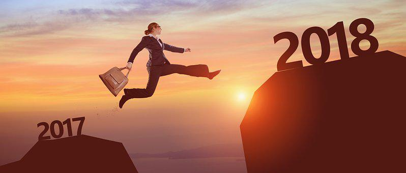 Reach, 2018, Sun, Jump, Year, Calendar, Mountain