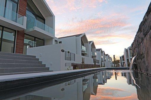 Reflections, Water, Val De Vie Estate