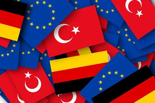 Europe, Turkey, Germany, Flags, Accession, Eu