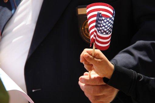 Veteran, Flag, Child, Hand, American, Usa, Patriotic