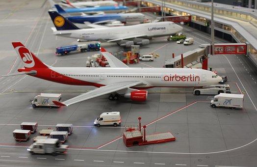 Miniature, Wonderland, Air Berlin, Airport, Airbus