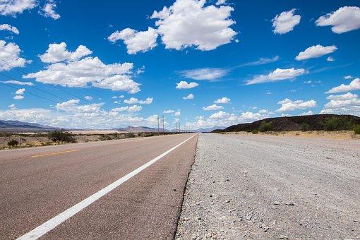 Highway, Usa, America, Clouds, Road, Asphalt