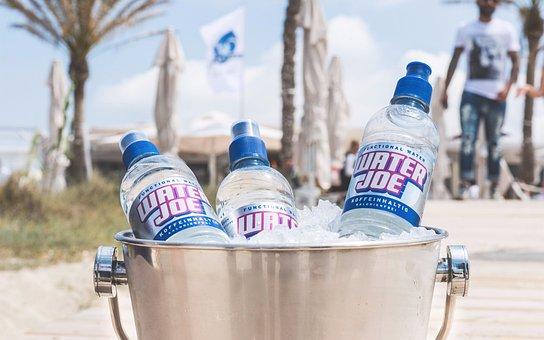Bucket, Champagne, Water, Beach, Waterjoe, Energy