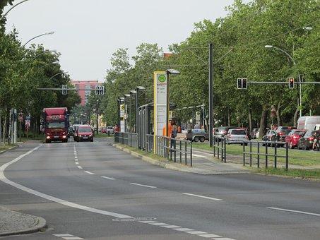 Berlin, Junction, Traffic Lights, Road, Capital, Bvg