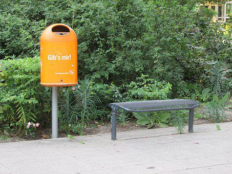 Berlin, Bsr, Garbage Can, Dustbin, City Cleaning