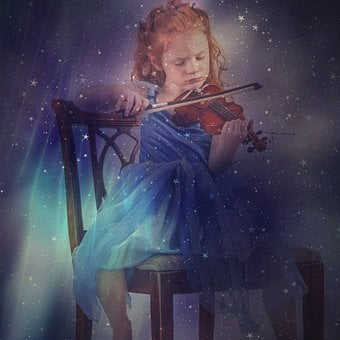 Girl, Child, Violin, Music, Concert, Poetry, Gorgeous