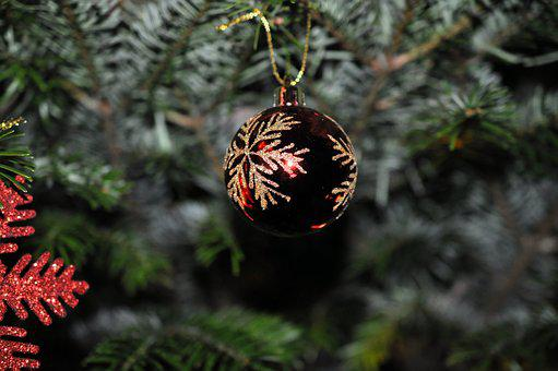 Christmas, Christmas Bauble, Red, Christmas Ornaments