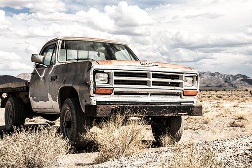 Pickup, Dodge, Truck, Auto, Desert, Oldtimer, Vehicle