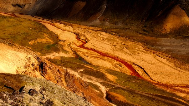 Landscape, Glacier Runoff, Nature, Outdoors, Remote