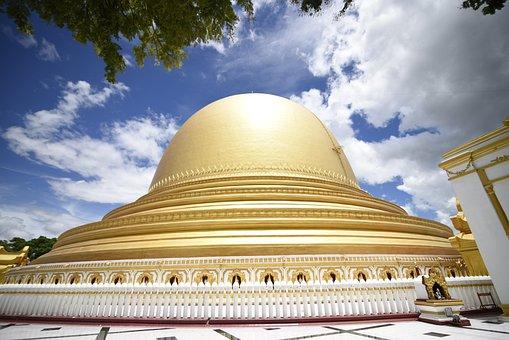 Kaunghmutaw, Myanmar, Sagaing, Golden, Pagoda, Burma