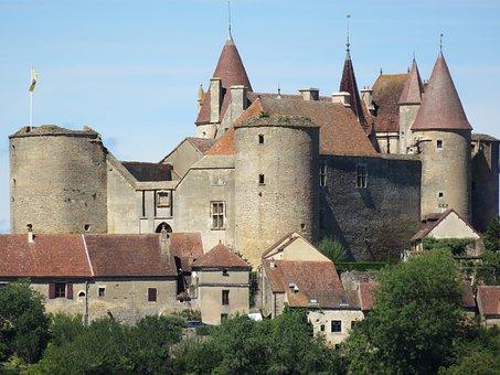 Chateauneuf-en-auxois, Castle, Middle Ages, Medieval