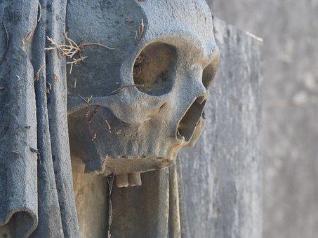 Memento Mori, Skull, Cemetery, Skull And Crossbones