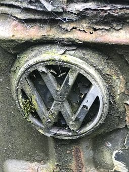 Vw, Kübelwagen, Scrap Car, Rusty, Vw Sign, Emblems