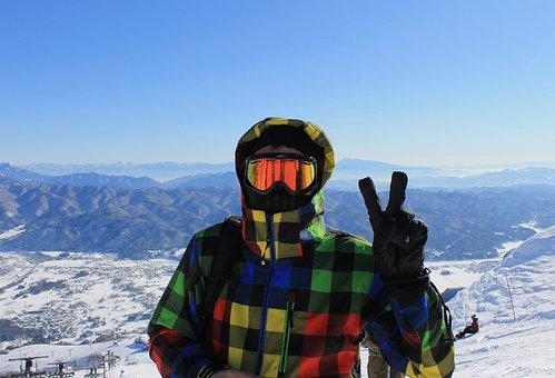 Ski, Snowboard, Snow, Skiing, Japan, Mountain, Blue