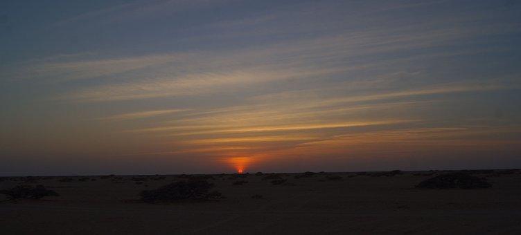 Sunset, Arabian, Middle East, Desert, Outdoor, Sky