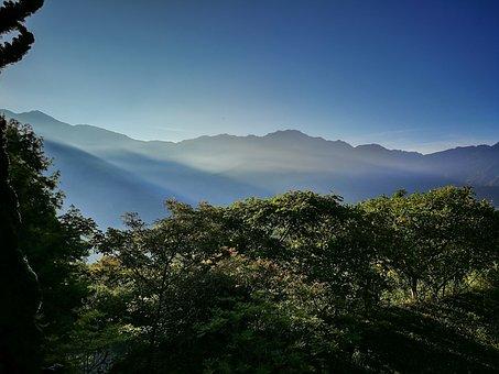 Taiwan, Chingjing, Morning, Trees, Mountain, Kasumi