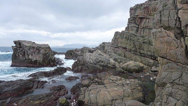 Rocky Shore, Landscape, Taiwan, Trip, Pacific, Asia