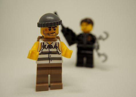 Police, Thief, Theft, Lego, Arrest, Follow