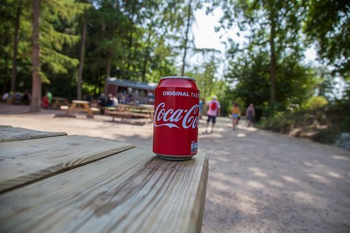 Coke, Coca-cola, Glance, Red, Green, Nature, Tin