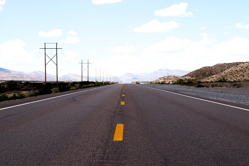Highway, America, Nevada, Desert, Usa, California, Road