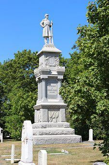 Monument, Civil War, War, Civil, History, Usa, American